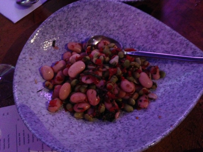 lima beans, broad beans, chilli
