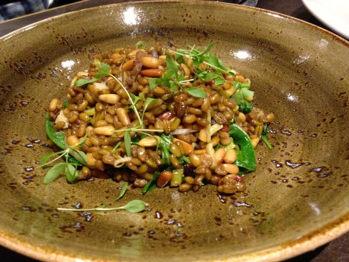 freekeh and lentils