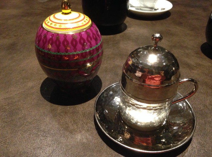 turkish coffee and sugar bowl