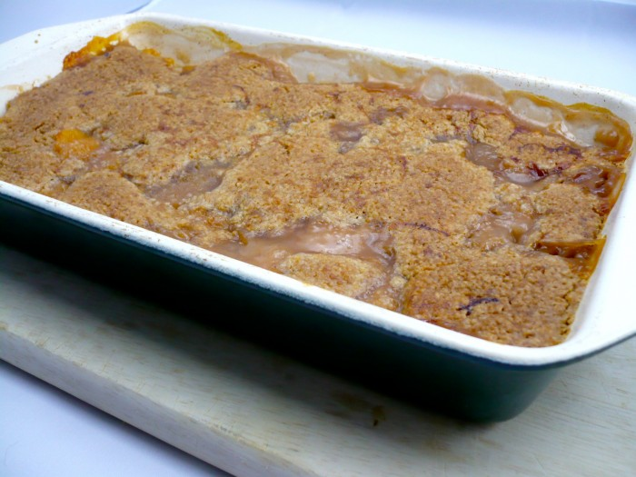peaches – a fruit crisp