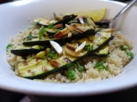 grilled zucchini with couscous