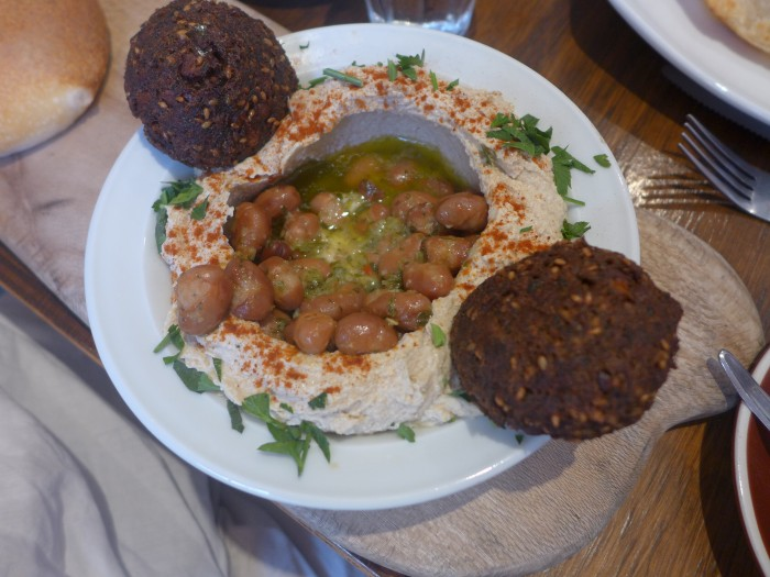 hummus plate with fava