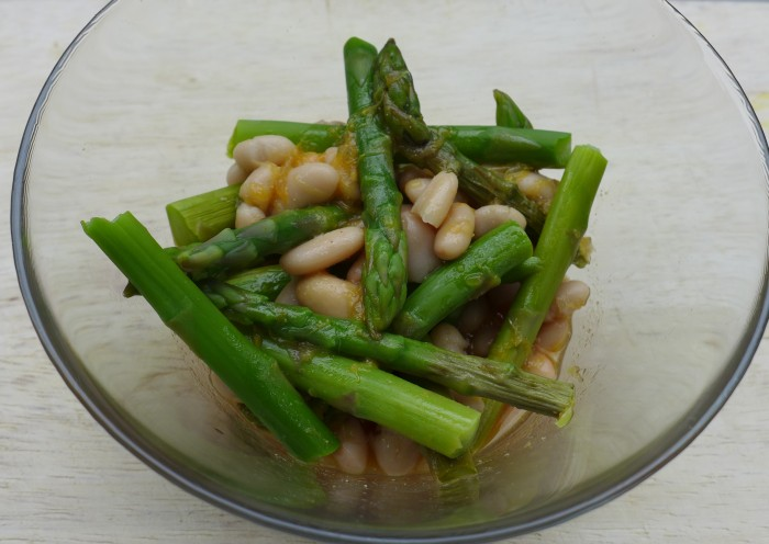 white bean and asparagus salad with citrus miso dressing ...