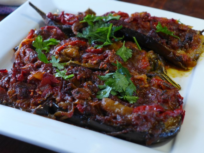 imam bayildi – turkish stuffed eggplant