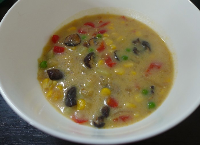 corn and vegetable chowder