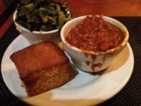 Chilli cornbread greens
