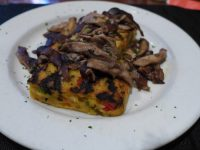 Mushrooms on polenta