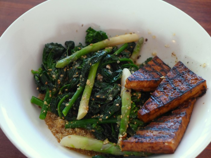 wilted kale salad with japanese style dressing