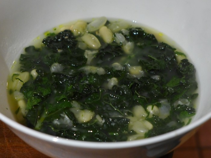 white bean and kale soup with gremolata