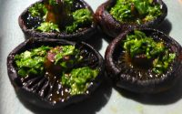 roasted mushrooms with salsa verde