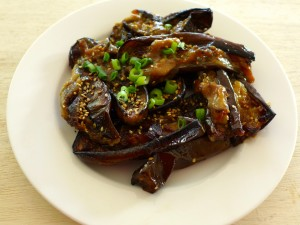 roasted eggplant with miso