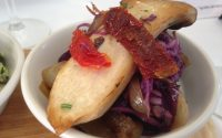braised cabbage, eggplant and king oyster mushroom