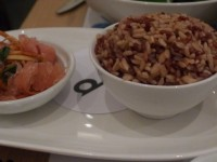 rice and pink grapefruit salad