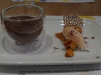 chocolate avocado mousse, honeycomb, mangosteen sorbet, pomegranate tuille