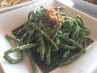snake beans in coconut sauce