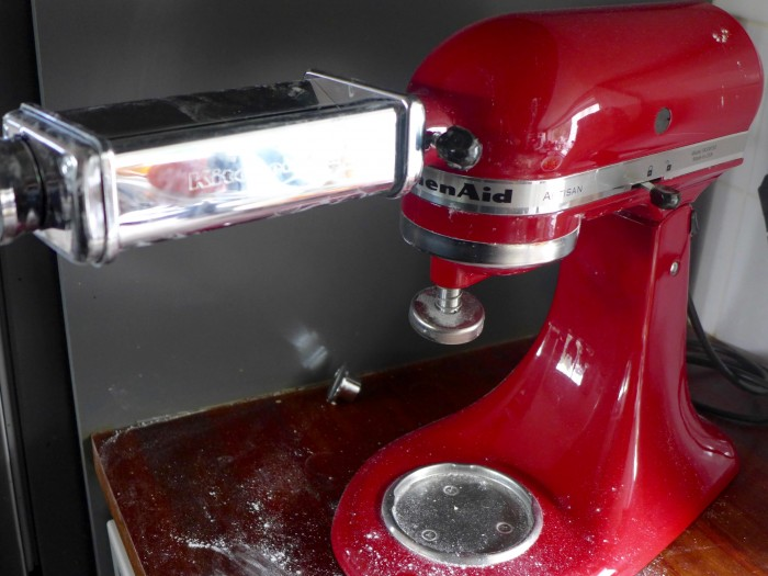 kitchenaid with pasta roller