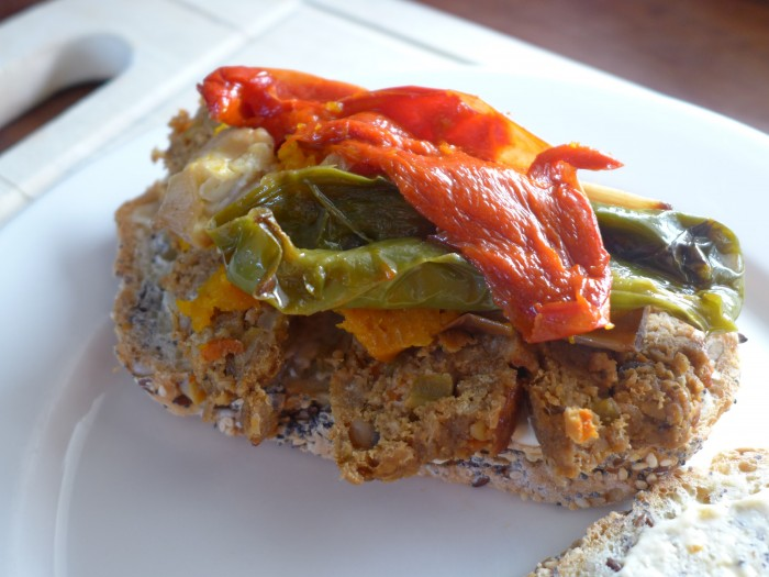 a vegan meatloaf sandwich