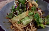 noodles with tempura veg