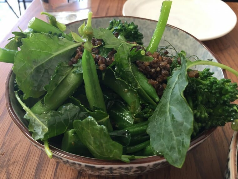 greens and lentils